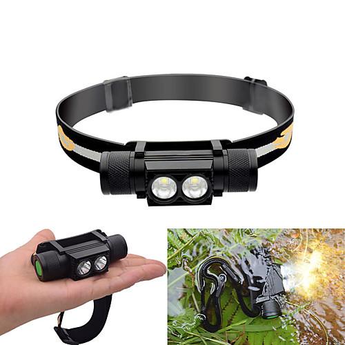 30-550 lm Налобные фонари LED 6 Режим Водонепроницаемый / Регулируется / Прочный