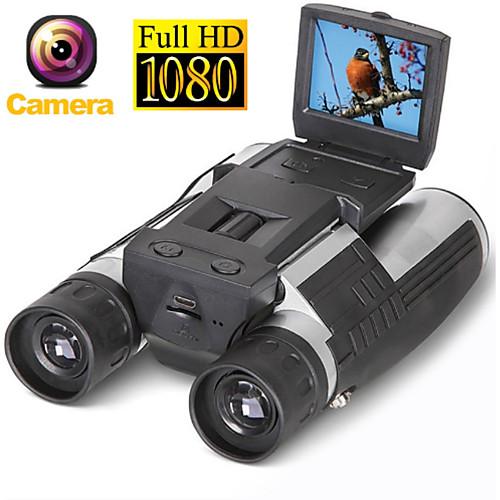Zoom fs608 цифровая бинокулярная телескопическая камера 5mp cmos sensor 2.0 '' tft full hd 1080p dvr фото видеозапись usb бинокль фото