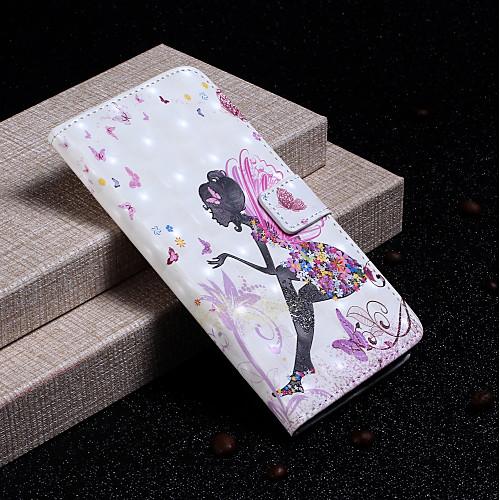 Кейс для Назначение SSamsung Galaxy S9 Plus / S9 Кошелек / Бумажник для карт / со стендом Чехол Соблазнительная девушка Твердый Кожа PU для S9 / S9 Plus / S8 Plus фото