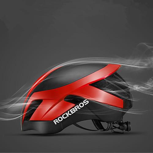 ROCKBROS Взрослые Мотоциклетный шлем 26 Вентиляционные клапаны ESPPC Виды спорта Велосипедный спорт / Велоспорт - Черный / синий / Черный  Щепка / Тёмно-синий Муж.