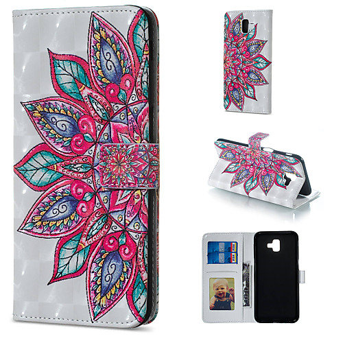 Case For Samsung Galaxy J5 (2017) / J3 (2017) Wallet / Card Holder / with Stand Full Body Cases Mandala Hard PU Leather for J7 (2017) / J7 (2016) / J6 (2018)