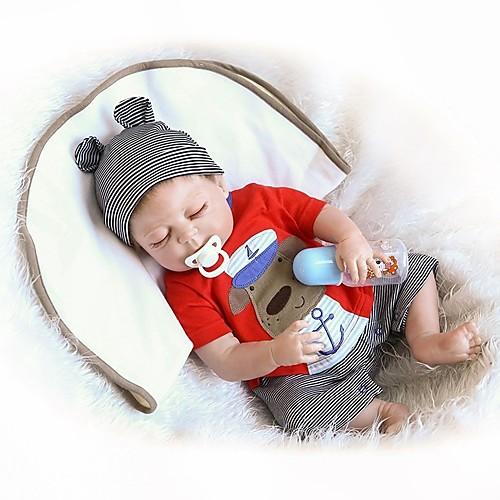 NPKCOLLECTION Куклы реборн Мальчики 18 дюймовый Полный силикон для тела Винил - Новорожденный Подарок Очаровательный Детские Мальчики Игрушки Подарок