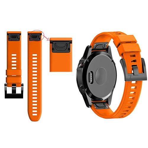 Ремешок для часов для Fenix 5 / Fenix 5 Plus / Forerunner 935 Garmin Классическая застежка силиконовый Повязка на запястье фото