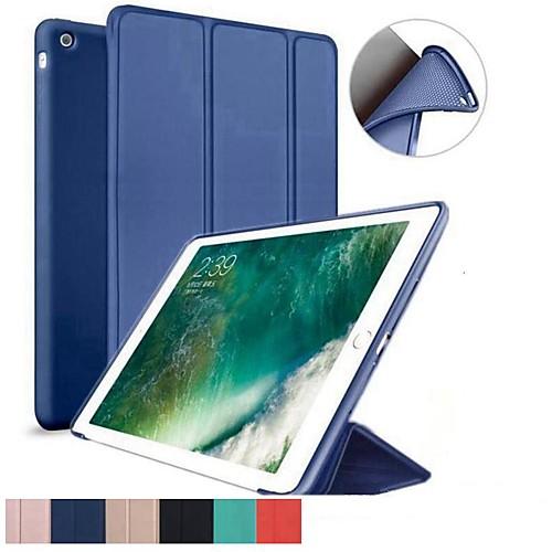 Кейс для Назначение Apple iPad (2018) / iPad Pro 11'' Защита от удара / Флип / Ультратонкий Чехол Однотонный Мягкий Силикон для iPad Mini 5 / iPad New Air (2019) / iPad Air / iPad Pro 10.5 фото