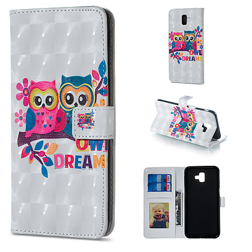 Case For Samsung Galaxy J5 (2017) / J3 (2017) Wallet / Card Holder / with Stand Full Body Cases Owl Hard PU Leather for J7 (2017) / J7 (2016) / J6 (2018)
