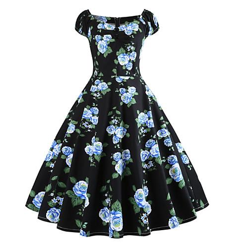 Жен. Классический Тонкие Оболочка Платье Завышенная U-образный вырез Макси фото