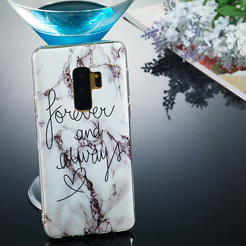 Case For Samsung Galaxy S9 Plus / S9 IMD / Pattern Back Cover Word / Phrase / Marble Soft TPU for S9 / S9 Plus / S8 Plus