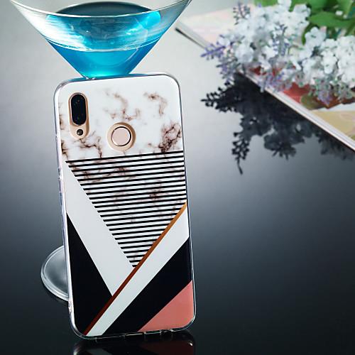 Кейс для Назначение Huawei P20 Pro / P20 lite IMD / С узором Кейс на заднюю панель Мрамор Мягкий ТПУ для Huawei P20 / Huawei P20 Pro / Huawei P20 lite фото
