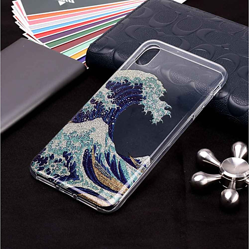 Case For Apple iPhone XR XS XS Max Pattern / Glitter Shine Back Cover Scenery Soft TPU for iPhone X 8 8 Plus 7 7plus 6s 6s Plus SE 5 5S