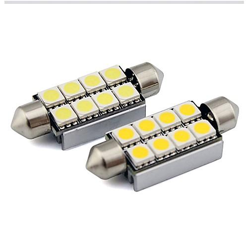 2pcs 36mm Автомобиль Лампы 1 W SMD 5050 80 lm 6 Светодиодная лампа Внутреннее освещение Назначение Универсальный Универсальный Универсальный фото