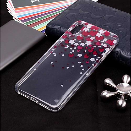 Кейс для Назначение Apple iPhone XR / iPhone XS Max Прозрачный / С узором Кейс на заднюю панель С сердцем Мягкий ТПУ для iPhone XS / iPhone XR / iPhone XS Max фото