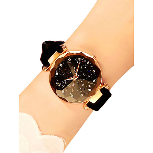 Women's Wrist Watch Quartz Quilted PU Leather Black / Red / Brown 30 m Water Resistant / Waterproof New Design Analog Ladies Casual Fashion Astronomical - Red Green Pink