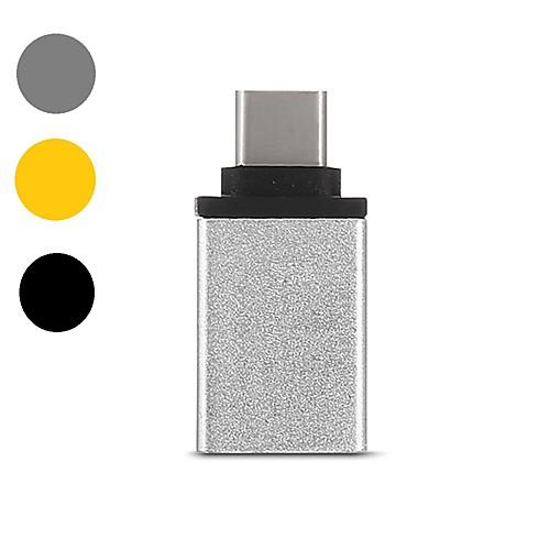 OTG / Type-C Адаптер USB-кабеля 1080P / Высокая скорость / Быстрая зарядка Адаптер Назначение Samsung / Huawei / LG 1 cm Назначение Алюминий фото