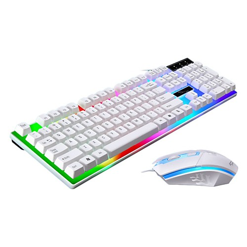 LITBest G21 USB Wired Mouse Keyboard Combo Color Gradient Mechanical Keyboard / Gaming Keyboard Luminous Gaming Mouse 1600 dpi