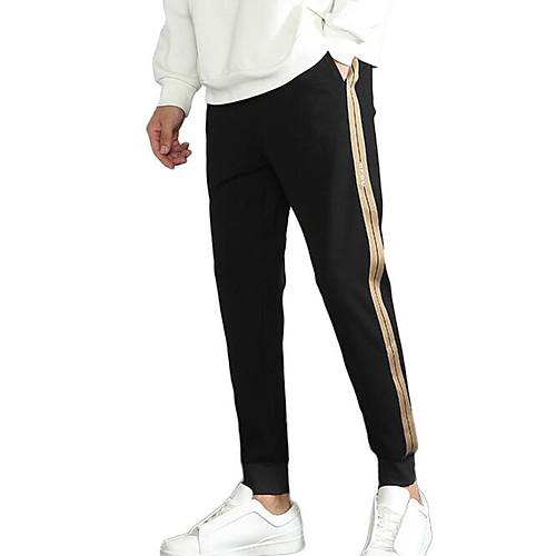 мужские узкие брюки чинос / спортивные штаны - однотонные черные