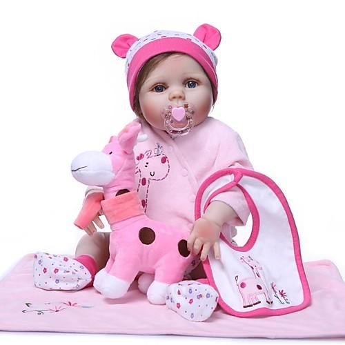 NPKCOLLECTION Куклы реборн Девочки 24 дюймовый Силикон Винил - Очаровательный Новый дизайн Искусственные имплантации Голубые глаза Детские Игрушки Подарок