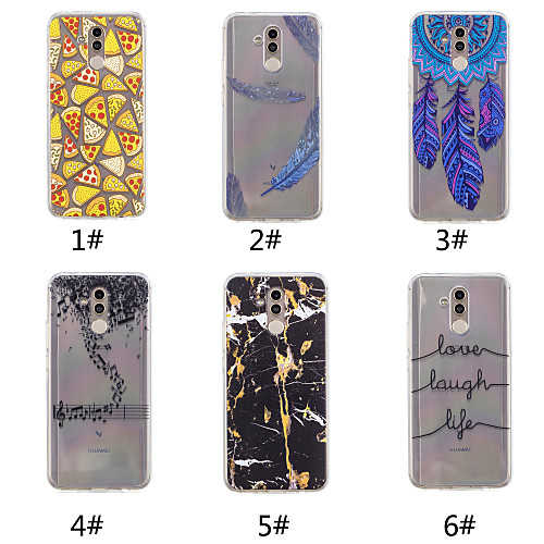 Case For Huawei P20 / P20 Pro Pattern Back Cover Word / Phrase / Feathers / Marble Soft TPU for Huawei Nova 3i / Huawei P20 / Huawei P20 Pro