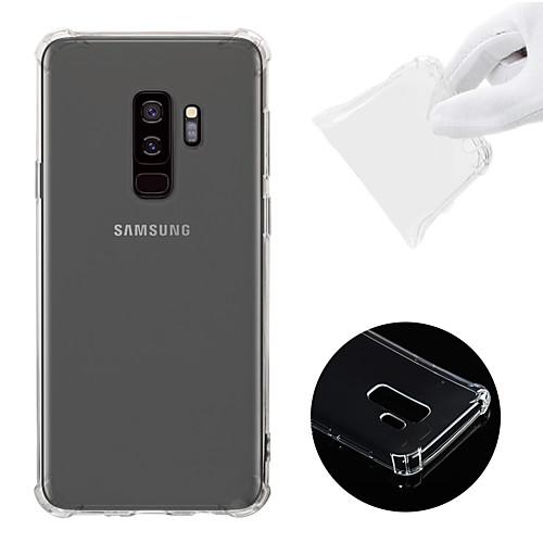 Кейс для Назначение SSamsung Galaxy S9 Plus Защита от удара / Прозрачный Кейс на заднюю панель Однотонный Мягкий ТПУ для S9 Plus фото