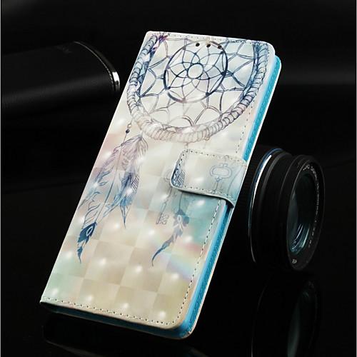 Кейс для Назначение SSamsung Galaxy Galaxy S10 Plus / Galaxy S10 Lite Кошелек / Бумажник для карт / со стендом Чехол Ловец снов Твердый Кожа PU для Galaxy S10 / Galaxy S10 Plus / Galaxy S10 Lite