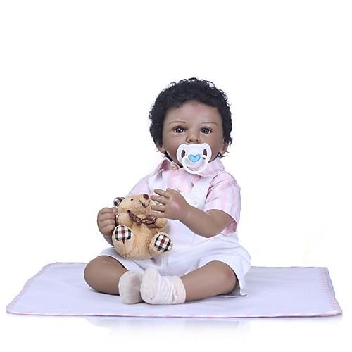NPKCOLLECTION Куклы реборн Девочки 24 дюймовый Новорожденный Подарок Искусственная имплантация Коричневые глаза Детские Девочки Игрушки Подарок