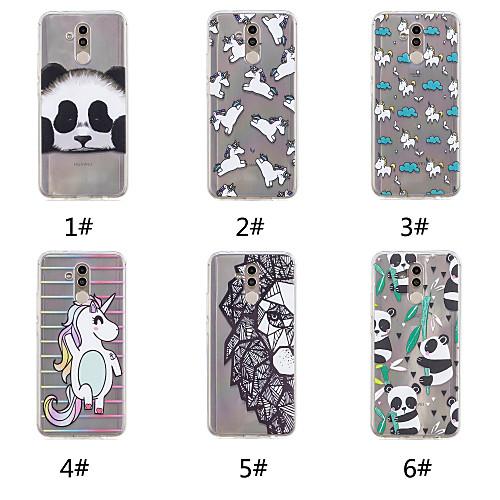 Case For Huawei P20 / P20 Pro Pattern Back Cover Unicorn / Cartoon / Panda Soft TPU for Huawei Nova 3i / Huawei P20 / Huawei P20 Pro