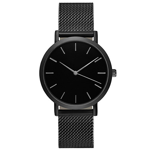 Geneva Men's Sport Watch Wrist Watch Quartz Stainless Steel Black / Silver / Gold 30 m Water Resistant / Waterproof Casual Watch Large Dial Analog Casual Fashion Simple watch - Silver Rose Golden One