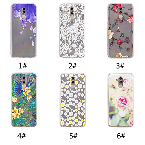 Case For Huawei P20 / P20 Pro Pattern Back Cover Flower Soft TPU for Huawei Nova 3i / Huawei P20 / Huawei P20 Pro