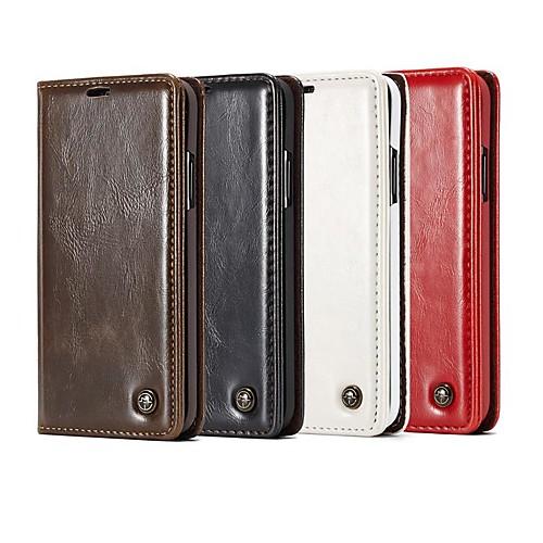 Кейс для Назначение SSamsung Galaxy S9 Plus / S8 Plus Кошелек / Бумажник для карт / со стендом Чехол Однотонный / Плитка Твердый Кожа PU для S9 / S9 Plus / S8 Plus