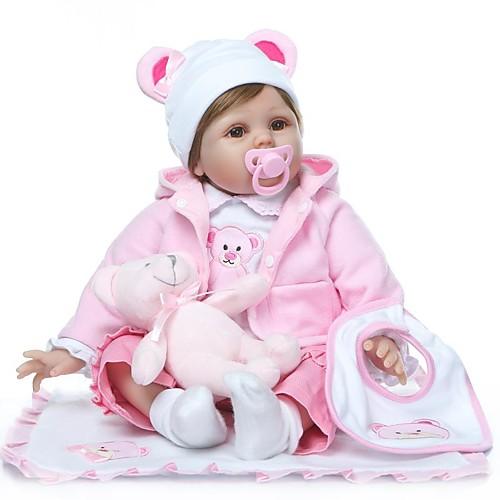 NPKCOLLECTION Куклы реборн Девочки 24 дюймовый как живой Подарок Искусственная имплантация Коричневые глаза Детские Девочки Игрушки Подарок