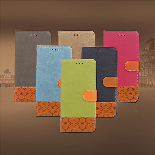 Case For Samsung Galaxy J3 (2017) Card Holder / Flip Full Body Cases Solid Colored Soft PU Leather for J3 (2017)
