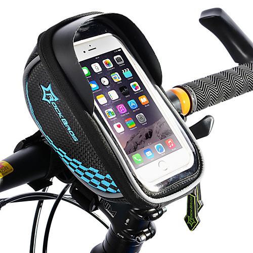 ROCKBROS Сотовый телефон сумка Бардачок на раму Бардачок на руль Сенсорный экран Отражение Водонепроницаемость Велосумка/бардачок ТПУ Этиленвинилацетат Полиэстер Велосумка/бардачок Велосумка iPhone X фото