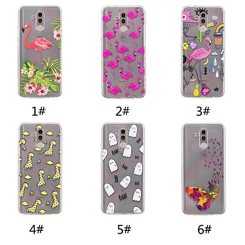 Case For Huawei P20 / P20 Pro Pattern Back Cover Butterfly / Flamingo / Cartoon Soft TPU for Huawei Nova 3i / Huawei P20 / Huawei P20 Pro