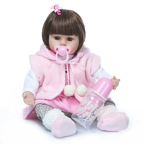 NPKCOLLECTION Куклы реборн Девочки 18 дюймовый Винил - Подарок Очаровательный Искусственная имплантация Коричневые глаза Детские Игрушки Подарок