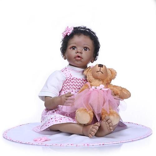 NPKCOLLECTION Куклы реборн Девочки 24 дюймовый Очаровательный Новый дизайн Искусственная имплантация Коричневые глаза Детские Девочки Игрушки Подарок