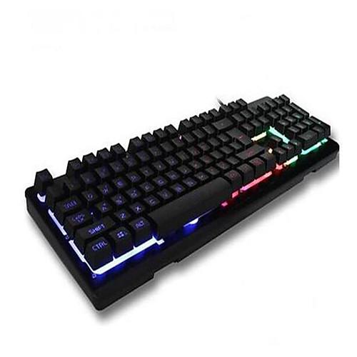 OEM Кабель / Проволока Мульти цвет подсветки четкие переключатели / Клавиатура 104 pcs Игровая клавиатура Подсветка / Влагозащищенная Работает от USB / Внешний источник питания питание