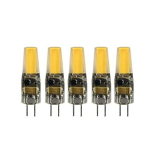 5 шт. 3 W Двухштырьковые LED лампы 200-300 lm G4 T 1 Светодиодные бусины COB Милый Тёплый белый Холодный белый 12 V фото