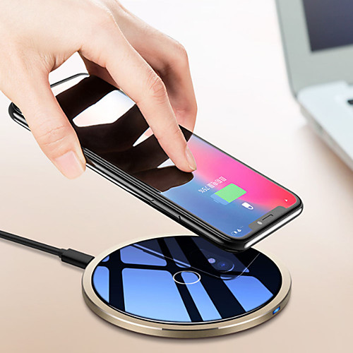 Беспроводное зарядное устройство Зарядное устройство USB USB Беспроводное зарядное устройство / Qi 1 USB порт 1.5 A / 1 A DC 9V / DC 5V для iPhone X / iPhone 8 Pluss / iPhone 8
