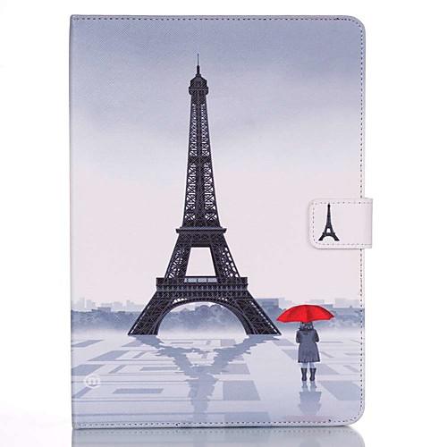 Кейс для Назначение Apple iPad mini 4 / iPad Mini 3/2/1 Кошелек / Бумажник для карт / со стендом Чехол Эйфелева башня Твердый Кожа PU для iPad Mini 3/2/1 / iPad Mini 4