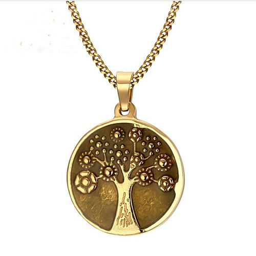 Муж. Жен. Классический Ожерелья с подвесками - Нержавеющая сталь дерево жизни Мода Cool Золотой 60 cm Ожерелье Бижутерия 1шт Назначение Подарок, Повседневные
