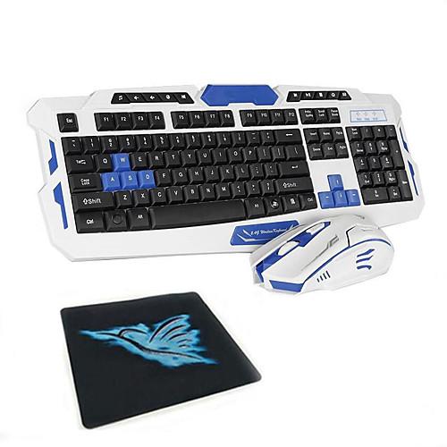 2.4G Комбинация клавиатуры мыши Портативные Аккумуляторы Управление клавиатурой Управление мышью 1600 dpi 3 pcs
