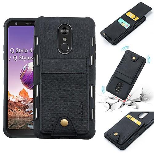 Кейс для Назначение LG LG Stylo 4 / V30 Кошелек / Бумажник для карт / Защита от удара Кейс на заднюю панель Однотонный Мягкий Кожа PU для LG Q Stylus / LG V30 / LG Stylo 4 фото