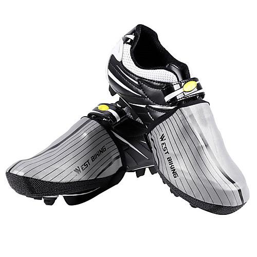 WEST BIKING Взрослые Waterproof Чехол для обуви На открытом воздухе Велосипедный спорт / Велоспорт Темно-серый Серый Универсальные Обувь для велоспорта