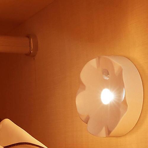 1шт LED Night Light Аккумуляторы AAA Креатив / Датчик человеческого тела <5 V