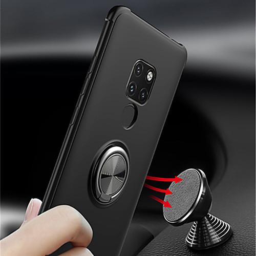 Кейс для Назначение Huawei Huawei Mate 20 Lite / Huawei Mate 20 Pro Кольца-держатели Кейс на заднюю панель Однотонный Мягкий ТПУ для Mate 10 / Mate 10 pro / Huawei Mate 20 lite