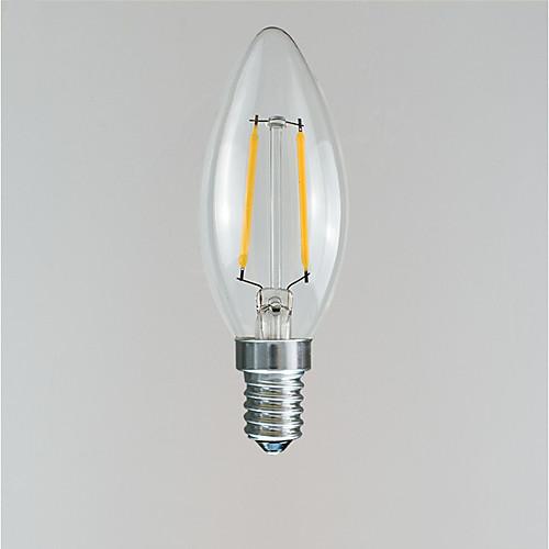 1шт 2 W 100-160 lm E14 LED лампы накаливания 2 Светодиодные бусины