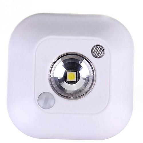 1шт LED Night Light / Умный ночной свет Белый Аккумуляторы AAA Smart / Инфракрасный датчик / Датчик человеческого тела <5 V