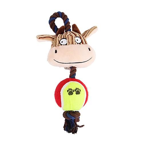 Игрушки с писком Животные / Фокусная игрушка Фланель Назначение Собаки / Коты