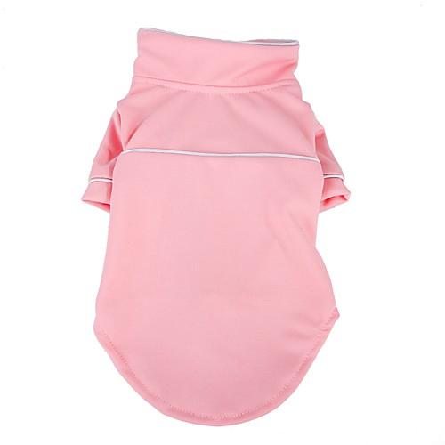 Собаки Пижамы Одежда для собак Однотонный Розовый Черный Ткань Плюш Костюм Назначение Корги Гончая Бульдог Весна Лето Женский Мужской На каждый день