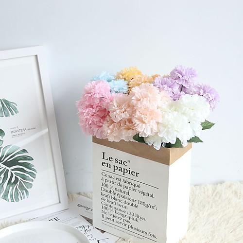 Искусственные Цветы 1 Филиал Односпальный комплект (Ш 150 x Д 200 см) Деревня Пастораль Стиль Хризантема Букеты на стол