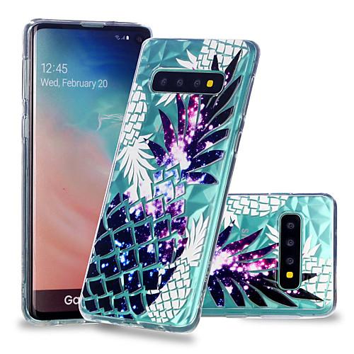 Кейс для Назначение SSamsung Galaxy Galaxy S10 Plus / Galaxy S10 E Защита от удара / Прозрачный / С узором Кейс на заднюю панель Фрукты Мягкий ТПУ для S9 / S9 Plus / S8 Plus фото